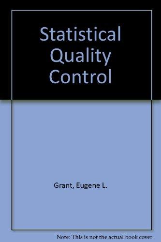 9780070663084: Statistical Quality Control