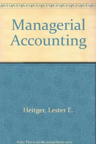 9780070663299: Managerial Accounting