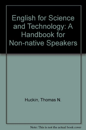9780070663459: English for Science and Technology: A Handbook for Non-native Speakers