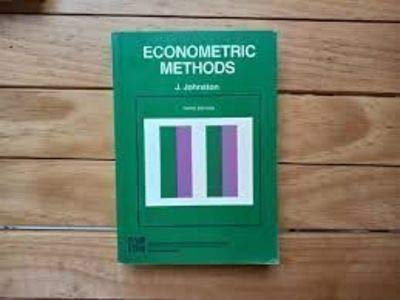 9780070663572: Econometric Methods