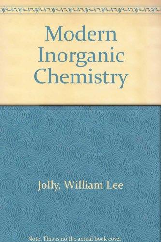 9780070663589: Modern Inorganic Chemistry