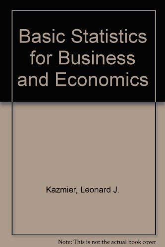 9780070663695: Basic Statistics for Business and Economics