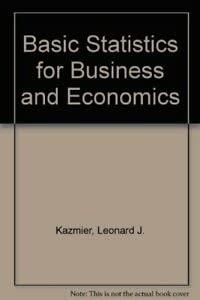 9780070663695: Basic Statistics for Business and Economics