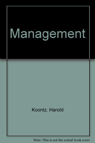 Management: Koontz, Harold, O'Donnell,