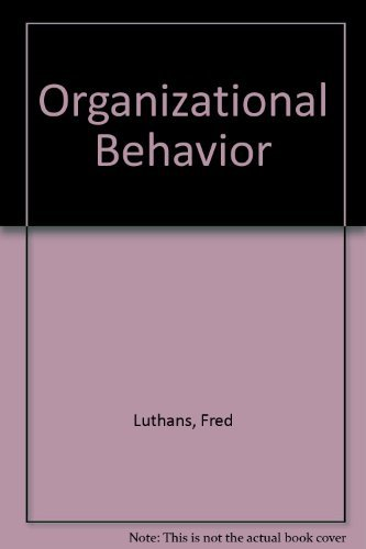9780070663961: Organizational Behavior