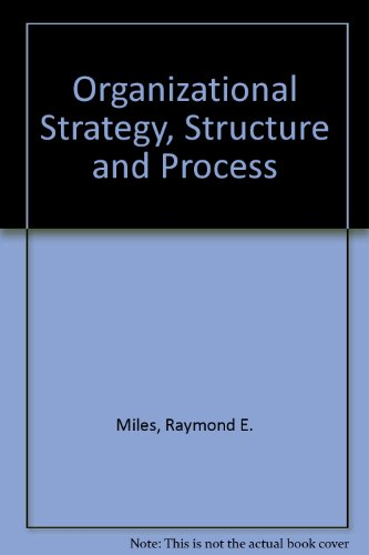 9780070664067: Organizational Strategy, Structure and Process