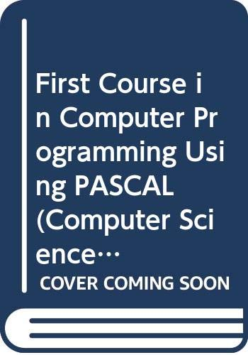 9780070664326: First Course in Computer Programming Using PASCAL