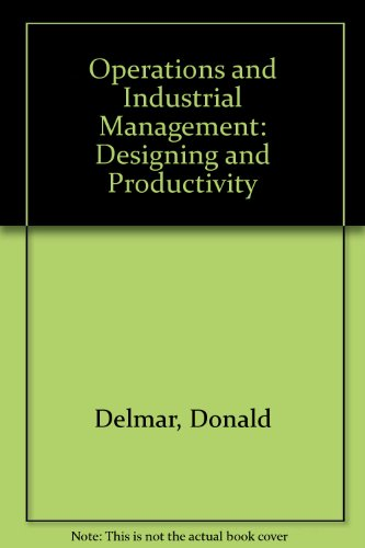 9780070664357: Operations and Industrial Management: Designing and Productivity