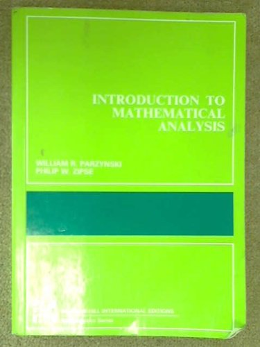 9780070664678: Introduction to Mathematical Analysis