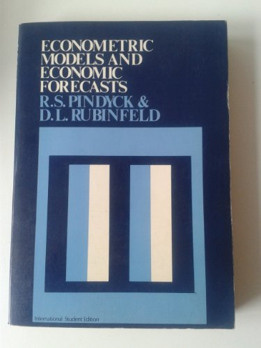 9780070664814: Econometric Models and Economic Forecasts