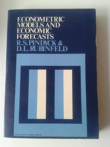 9780070664814: Econometric Models and Economic Forecasts