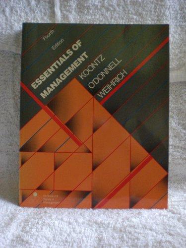 9780070664982: Essentials of Management
