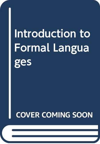 9780070665019: Introduction to Formal Languages