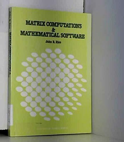 9780070665095: Matrix Computations and Mathematical Software