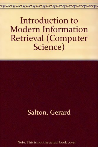 9780070665262: Introduction to Modern Information Retrieval (Computer Science)
