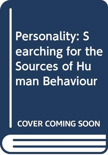 9780070665286: Personality: Searching for the Sources of Human Behaviour