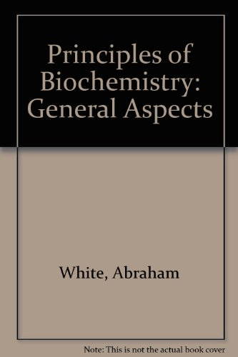 9780070665705: Principles of Biochemistry: General Aspects
