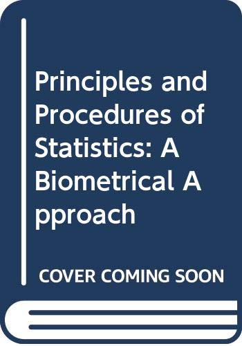9780070665811: Principles and Procedures of Statistics: A Biometrical Approach