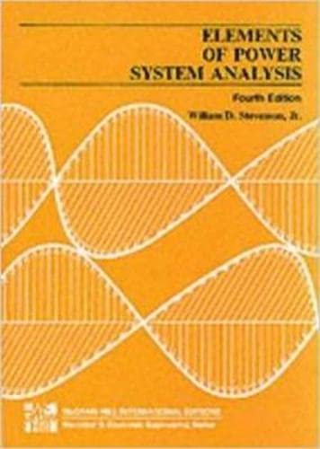 9780070665842: Elements Of Power Systems Anal 4E
