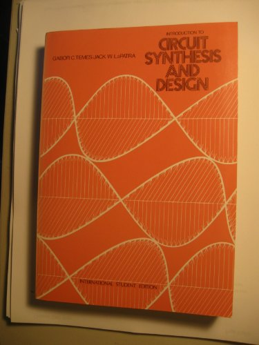 9780070665965: Introduction to Circuit Synthesis and Design