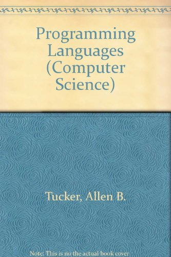 9780070666177: Programming Languages (Computer Science)