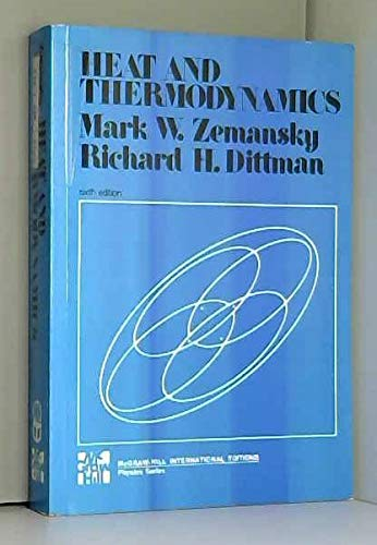 9780070666474: HEAT AND THERMODYNAMICS. An intermediate textbook, 6th edition, Edition en anglais