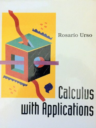 Calculus With Applications: Urso, Rosario