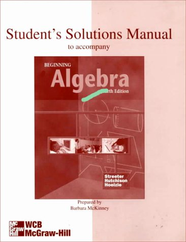9780070666658: Student's Solutions Manual to Accompany: Beginning Algebra
