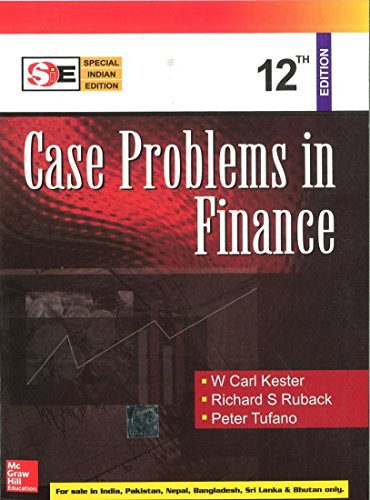 9780070667051: Case Problems in Finance 12th Edition Special Indian Edition