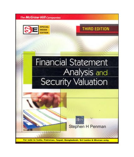 9780070668195: Financial Statement Analysis and Security Valuation (Special Indian Edition) Edition: Third