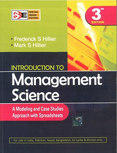 9780070668225: Introduction to Management Science: A Modeling and Case Studies Approach with Spreadsheets (International Edition)