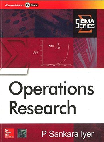 Operational Research: P Sankara Iyer