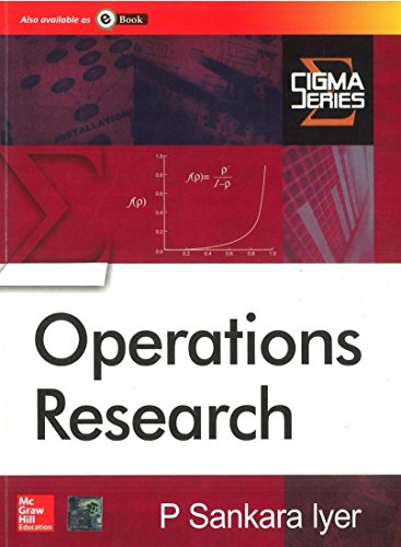 Operational Research: P Sankara Iyer