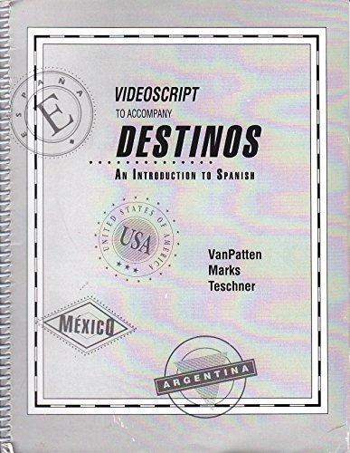 9780070672024: Videoscript to Accompany Destinos: An Introduction to Spanish