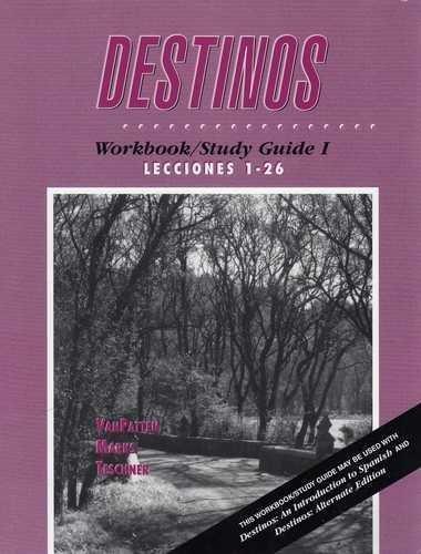 9780070672598: Destinos: Workbook/Study Guide 1 (Lecciones 1-26) (Spanish Edition)