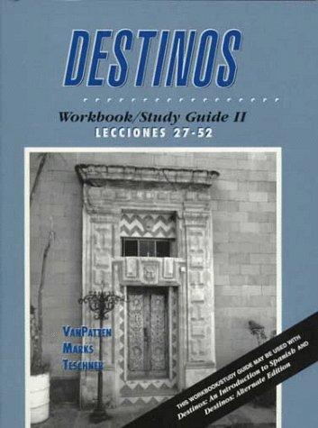 9780070672604: Destinos: Workbook/Study Guide II : Lecciones 27-52