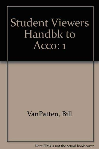 9780070672611: Student Viewers Handbk to Acco