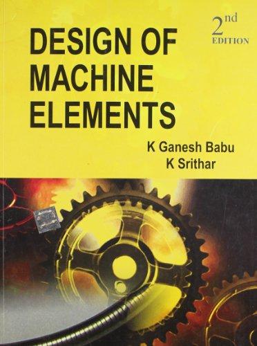 9780070672840: DESIGN OF MACHINE ELEMENTS