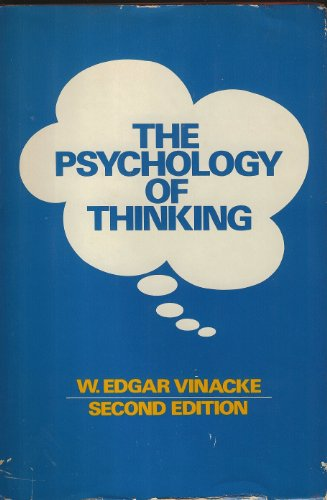 The Psychology of Thinking: W. Edgar Vinacke