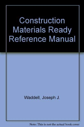 9780070676497: Construction Materials Ready-Reference Manual