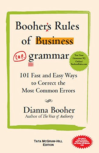 9780070677326: Booher's Rules of Bus. Grammar