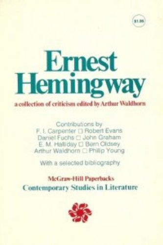 9780070678002: Ernest Hemingway; A Collection of Criticism (Contemporary Studies in Literature S.)