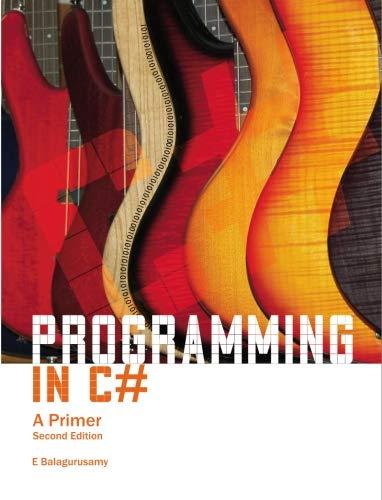 9780070678132: Programming in C #: 2/e: A Primer