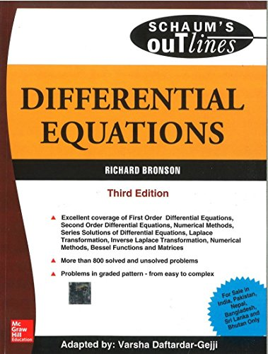 9780070678811: Differential Equations (SIE) (Schaum?s Outline Series)