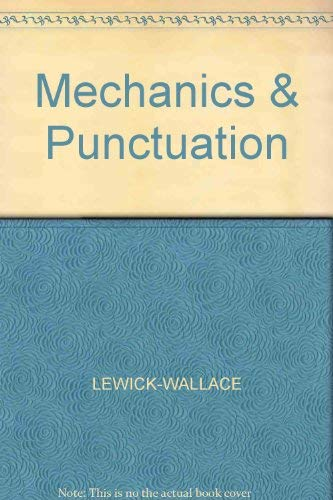 9780070679030: Punctuation and Mechanics (McGraw-Hill communication skills series)