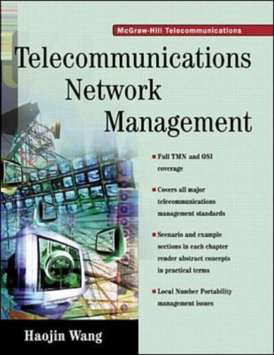 9780070681705: Telecommunications Network Management (McGraw Hill Series on Telecommunications)