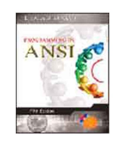 9780070681828: Programming in ANSI C