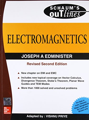 Electromagnetics (Special Indian Edition), (Schaum?s Outline Series): Joseph Edminister,Vishnu ...