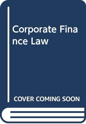 9780070684232: Corporate Finance Law