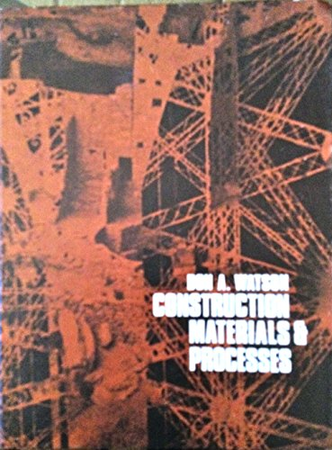 9780070684676: Construction materials and processes
